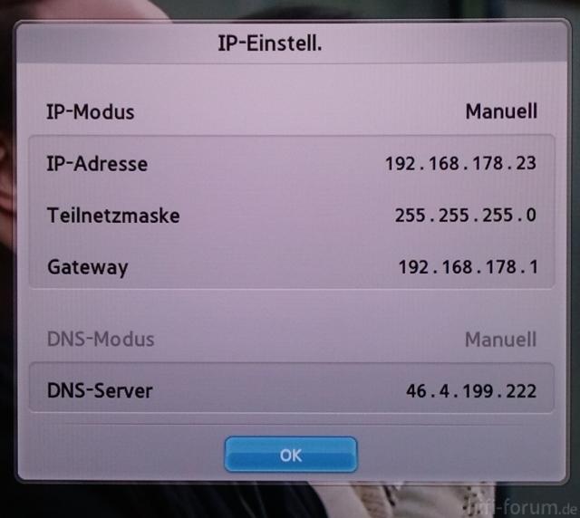 IP Einstellungen