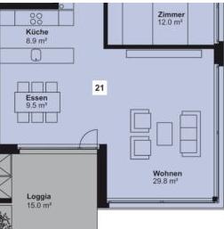 Wohnzimmer + Esszimmer