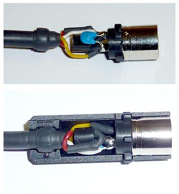 JVC X30/70/90, Spannungsadapter, Buchsenseite