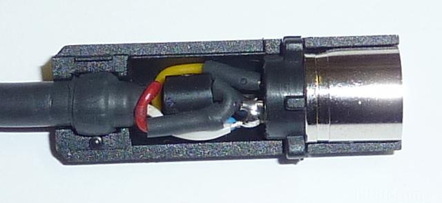 Spannungsadapter JVC X30/70/90, Bauteillage Seitenansicht