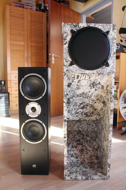 Größenvergleich: Geist BL II Horn Zu 80cm Standlautsprecher