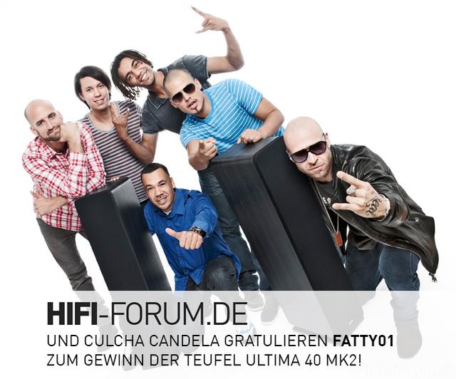 HiFi-Forum.de und Culcha Candela gratulieren Fatty01