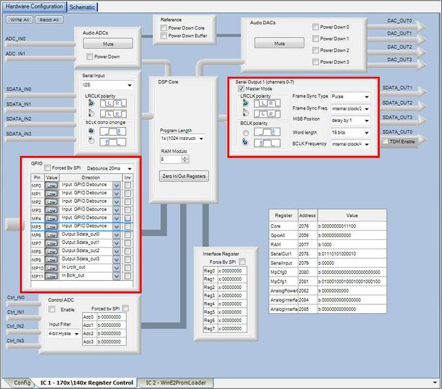 PCM5102A DAC Sigma Studio Konfig