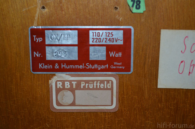 Endverstärker Klein&Hummel