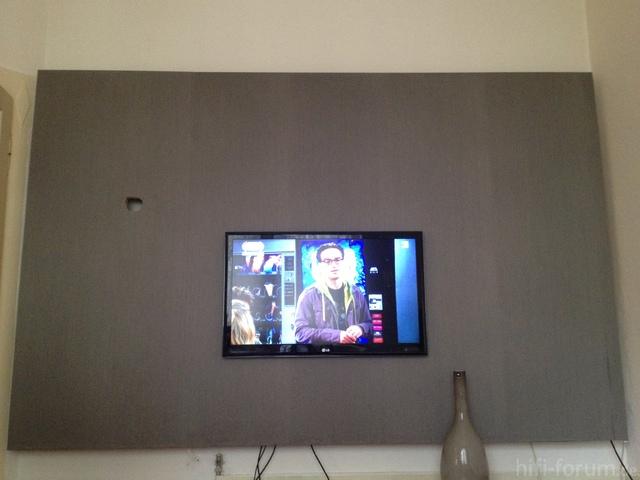 TV Wand  doityourself, heimkino, tv, tvwand, wand  hififorumde