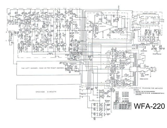 WFA-220 Schaltung