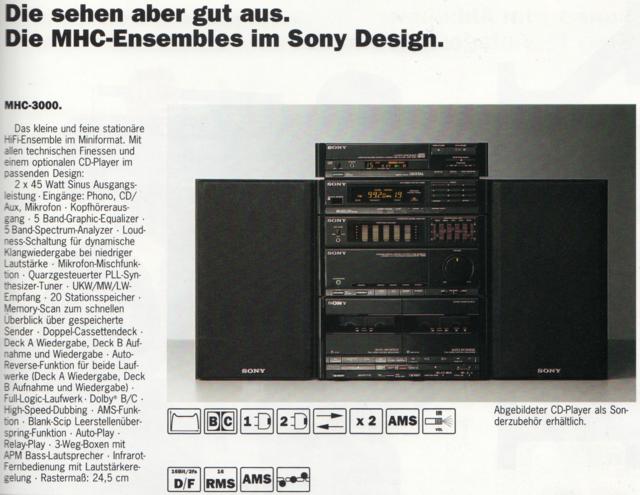 Sony MHC 3000