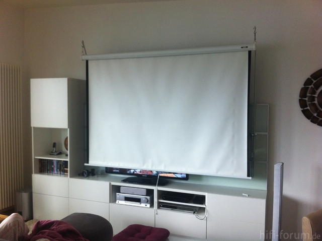 Bed Sheet As A Projector Screen