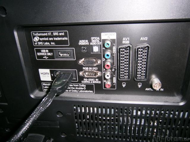 Rückseite von Lcd- TV
