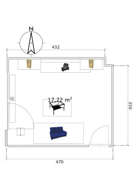 Wohnzimmer_Skizzierung