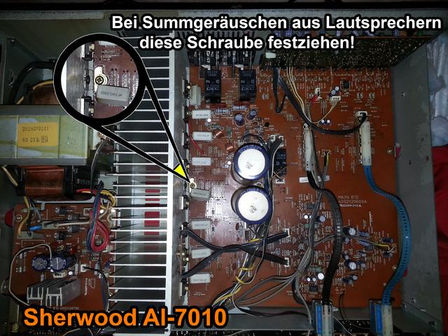 Sherwood AI-7010 Summen beseitigen