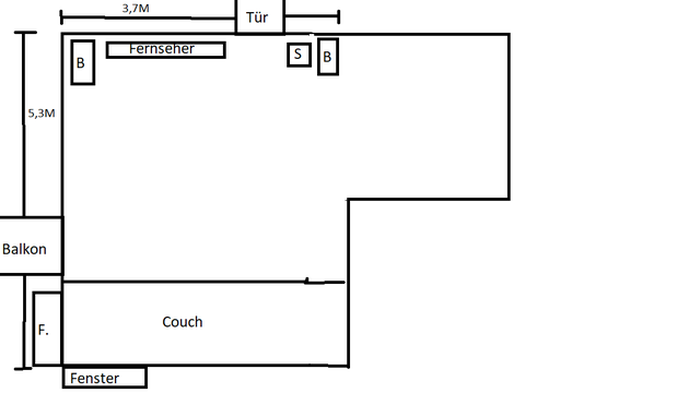 Grundriss - Wohnzimmer