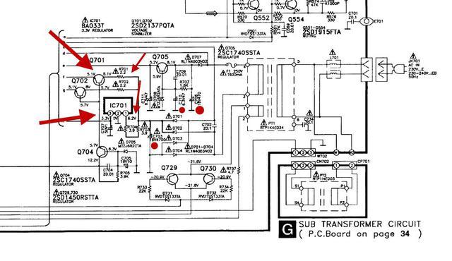 Technics SH-AC500D tot / defekt - erfolgreich wiederbelebt ...