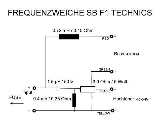 Frequenzweiche neu Technics SB-F1