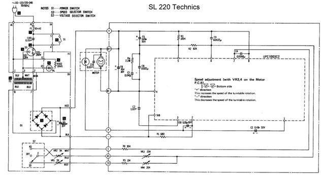Technics SL 220 Motorsteuerung Riemen Motor FG
