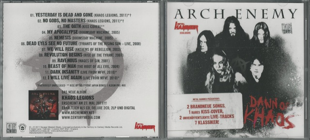 CD Cover (Arch Enemy   Dawn Of Khaos)