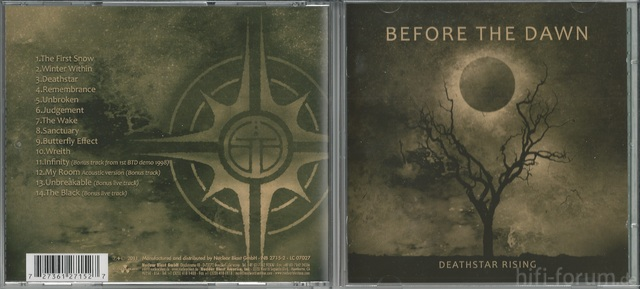 CD Cover (Before The Dawn   Deathstar Rising)