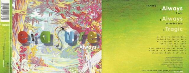 CD Cover (Erasure   Always)