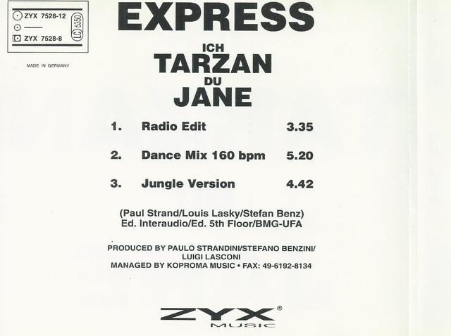 CD Cover (Express   Ich Tarzan Du Jane) (2)