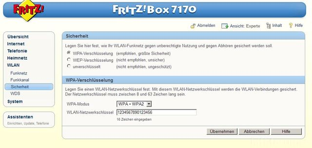 ue32f6470 wlan verbindung fritzbox 7170 samsung hifi forum. Black Bedroom Furniture Sets. Home Design Ideas