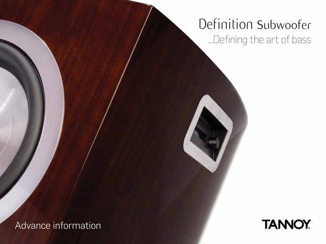 Tannoy Definition Subwoofer