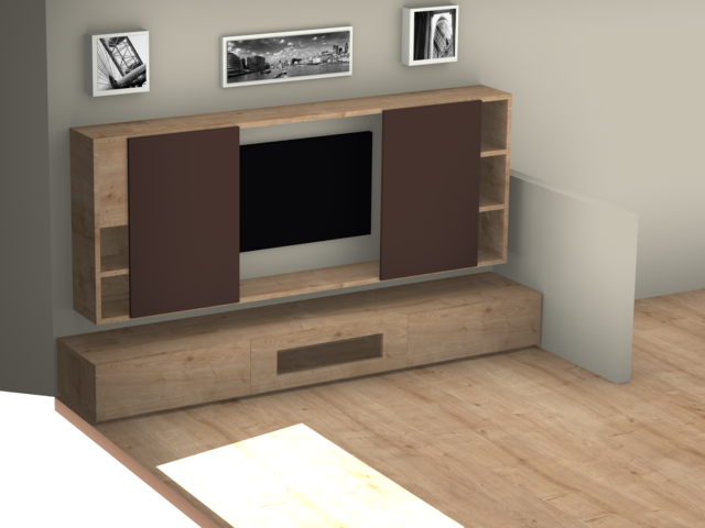 lowboard mit tv wand wo die lautsprecher unterbringen. Black Bedroom Furniture Sets. Home Design Ideas