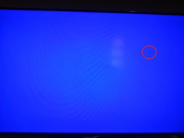 Samsung F6500 (Schwarzer Fleck Auf Blauem Hintergrund) - 2