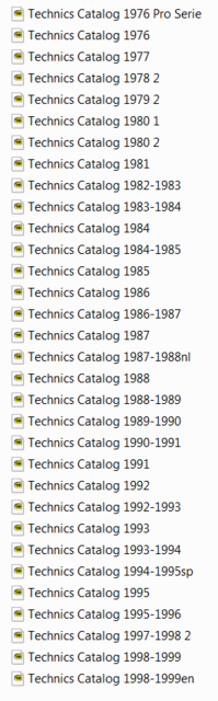 liste technics