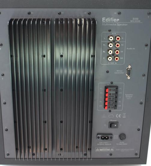 Edifier S550 Rückseite