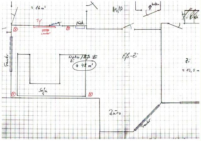 wohnzimmer zeichnung:Wohnzimmer Skizze