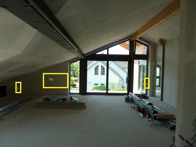 Neubau DG Wohn- + Esszimmer beschallen