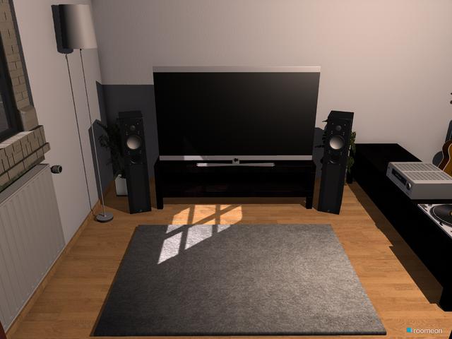 Wohnzimmer Blick von oben Richtung TV