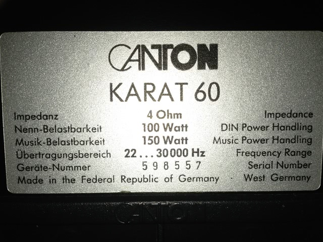 Canton Karat 60
