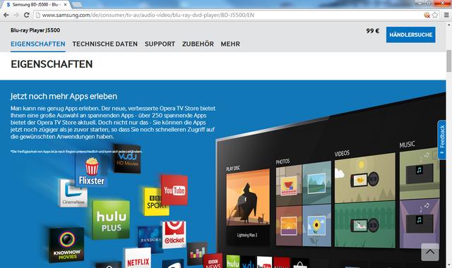 BD-J5500 Homepage