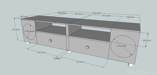 Sideboard Entwurf