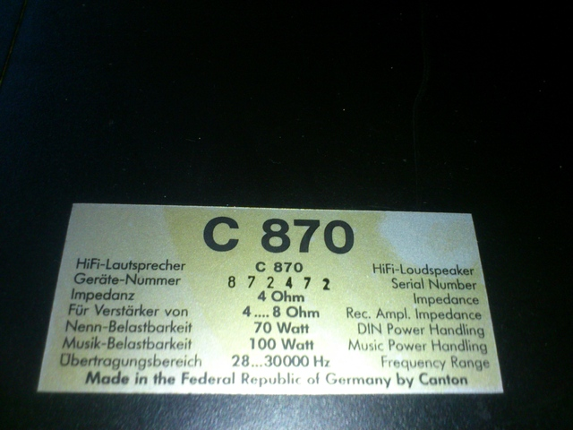 Canton BOX C870