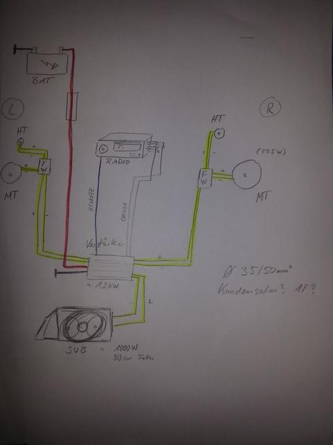 Erste Anlage Verkabeln, Car-Hifi: Anschluss, Verkabelung und ...