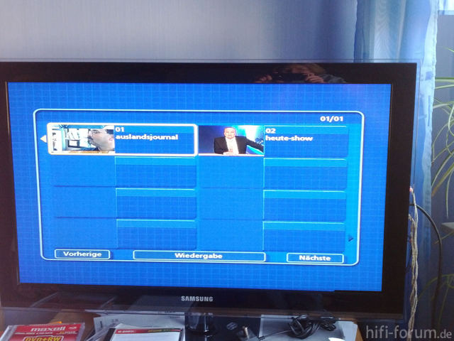 DVD Menü Breitgezogen