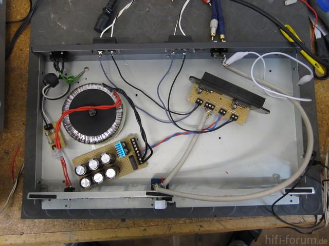 Verstärker-Testaufbau