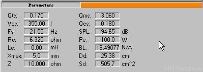 12L 70 Parameter