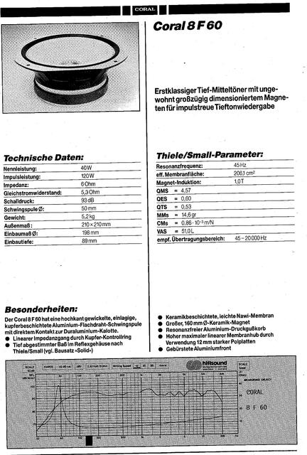 CORAL 8F60 Prospekt