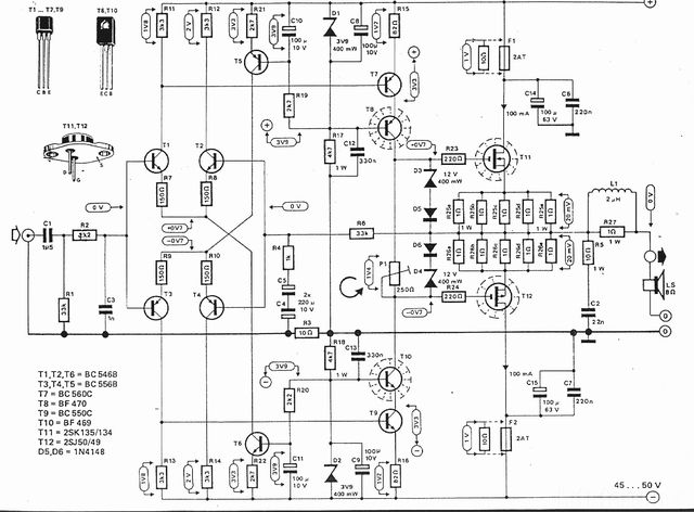 2000w amplifier circuit diagram