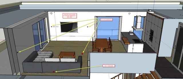 Sketchup Surround System Oder Soundbar Fur Wohnzimmer Esszimmer