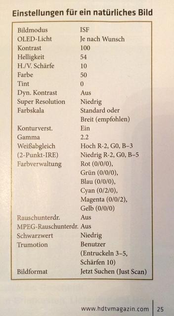 Hdtvmagazin einstellungen 55EC930V