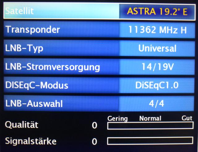 Astra 19.2 Einstellungen