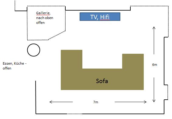 Skizze Wohnraum