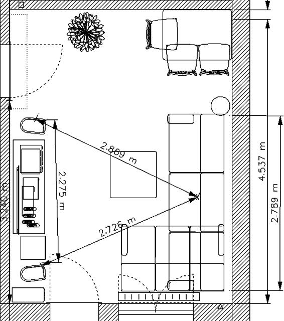 Wohnzimmer Querschnitt