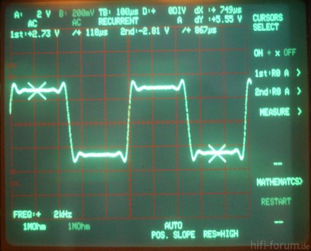 Rechteckantwort Des Pioneer PD-S703