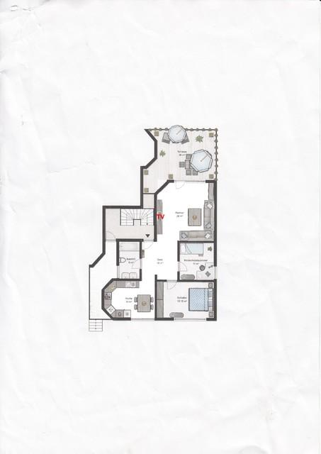 surround bzw heimkino f r offenes wohnzimmer mit ca 30. Black Bedroom Furniture Sets. Home Design Ideas