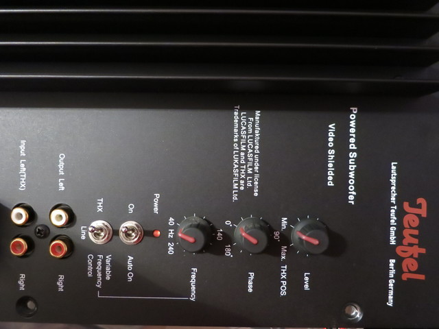 Bedientafel Subwoofer M 7100